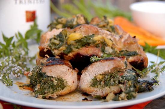 Stuffed Pork Loin recipe | WhiteOnRicecouple.com