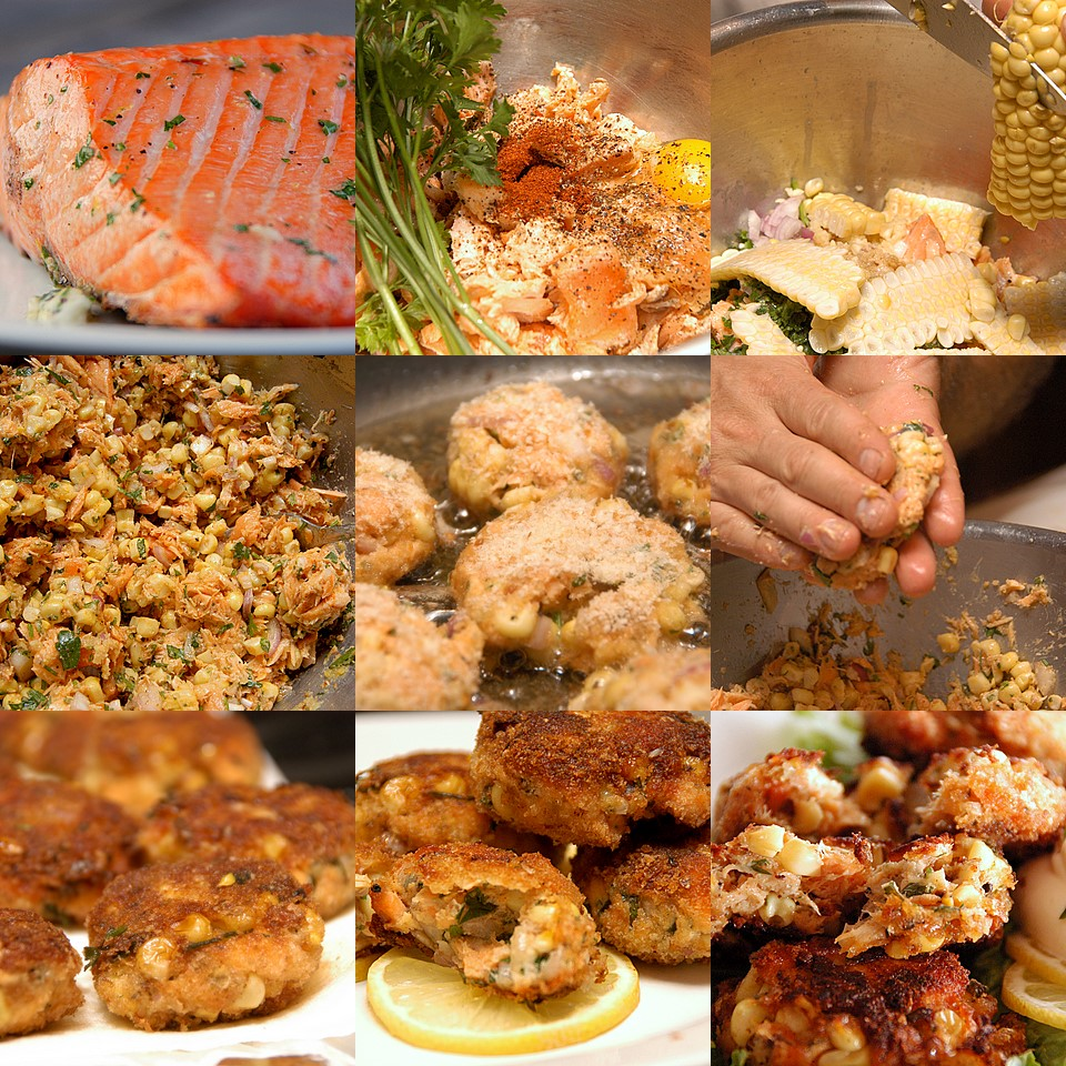 Salmon Birthday Cake: Salmon Corn Cakes Recipe - Leftover Medley