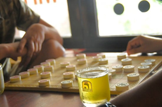 Chinese checkers DaNang Vietnam Cafe