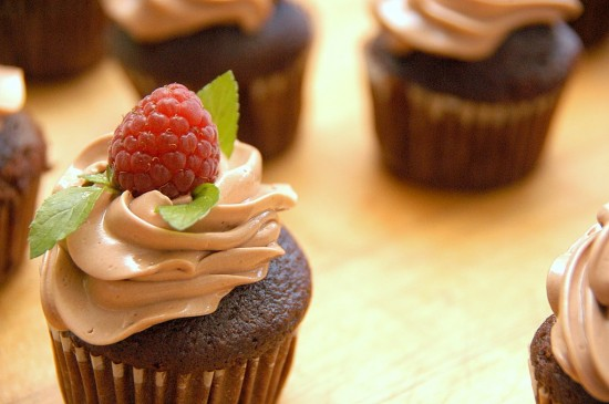 Milk Chocolate Raspberry Cupcakes