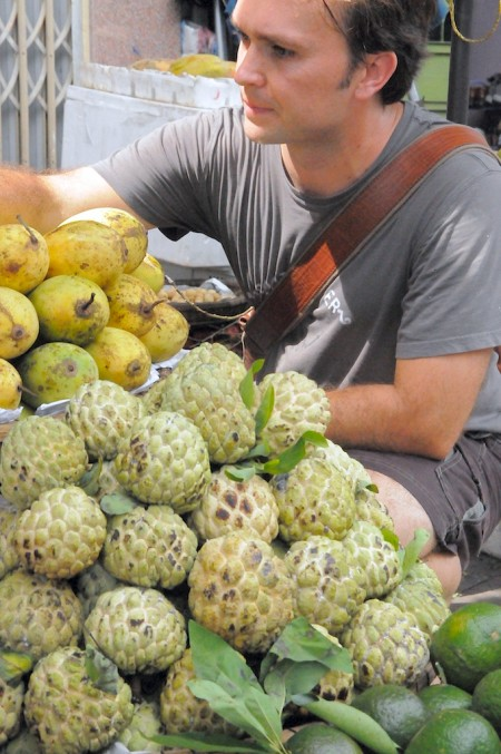Vietnam Fruit Street Vendor