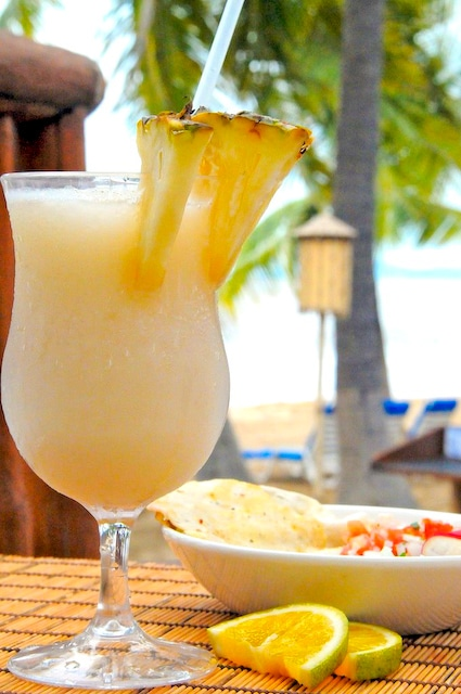 Easy Pina Colada Cocktail Recipe made with Fresh Pineapples | @whiteonrice