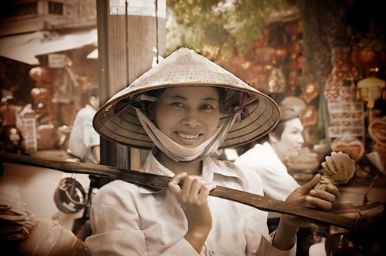 Vietnam Pineapple Street Vendor