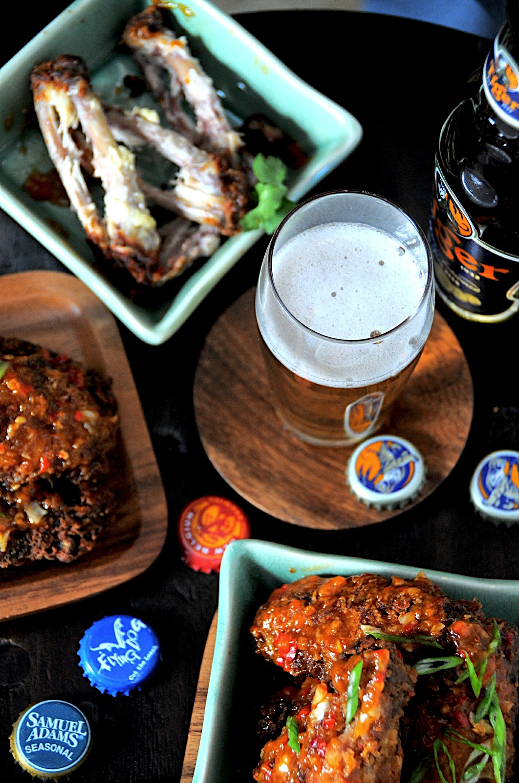 sauces beer Asian with