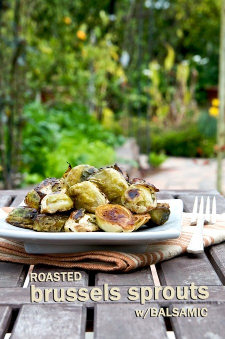 Roasted Brussels Sprouts w/ Balsamic Vinegar Recipe