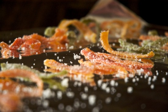 Candied Citrus Peels Recipe on board