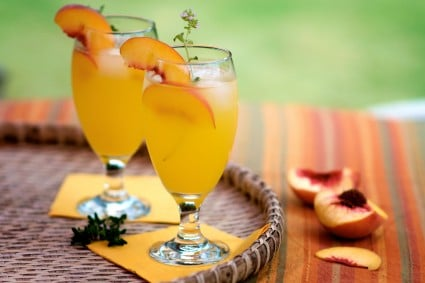 Peach Cooler Recipe made with fresh peach juice | @whiteonrice