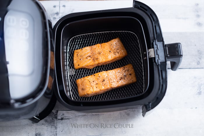 Air Fried Salmon Recipe in Air Fryer Healthy Salmon @whiteonrice