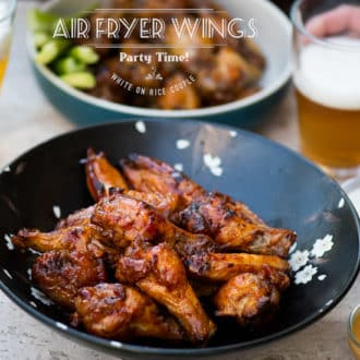 Healthy Air Fryer Chicken Wings Recipe with NO OIL | @whiteonrice
