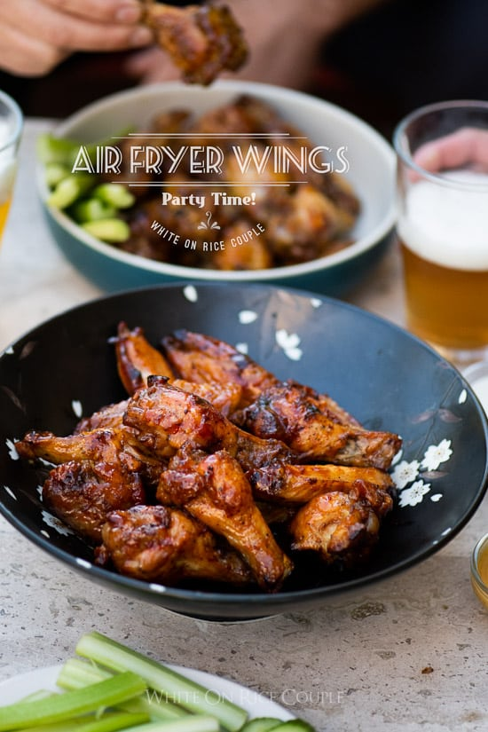 Air Fryer Chicken Wings Recipe Air Fried No Oil White On Rice Couple