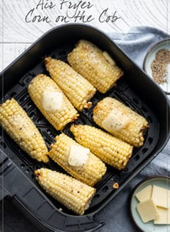 Air Fryer Corn on the Cob Recipe | WhiteOnRiceCouple.com