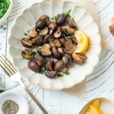 Air Fryer Garlic Mushrooms Recipe for Healthy Air Fryer Mushrooms @whiteonrice