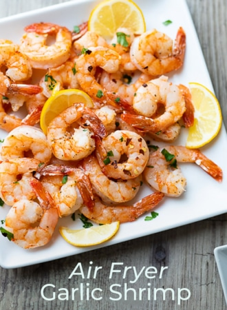 Air Fryer Garlic Shrimp Recipe | WhiteOnRiceCouple.com