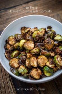 Air Fryer Brussels Sprouts Recipe in a bowl
