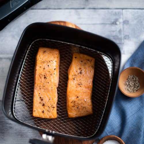 Healthy Air Fryer Baked Salmon