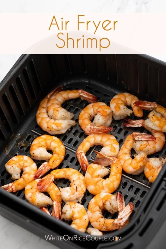 Air Fryer Shrimp Cocktail Recipe Homemade Sauce in a basket