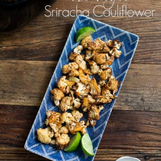 Air Fryer Sriracha Cauliflower Recipe Healthy Air fried Recipe @whiteonrice
