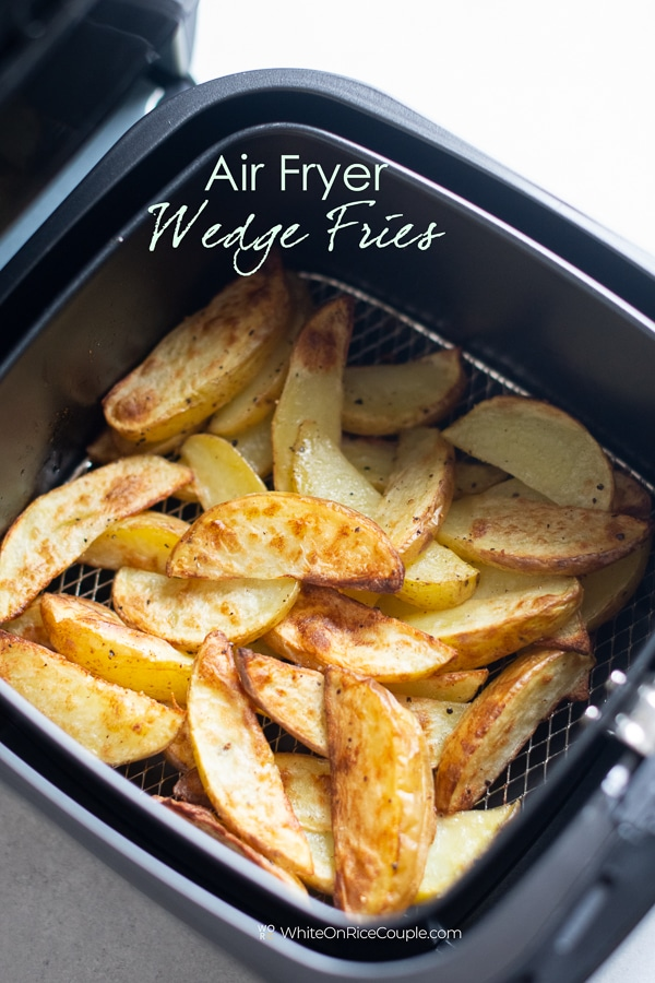 Air Fryer French Fries in Basket by whiteonricecouple.com