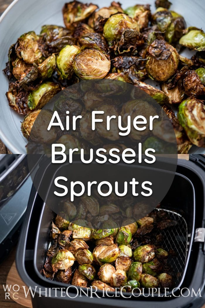 Air Fryer Brussels Sprouts Recipe @whiteonrice
