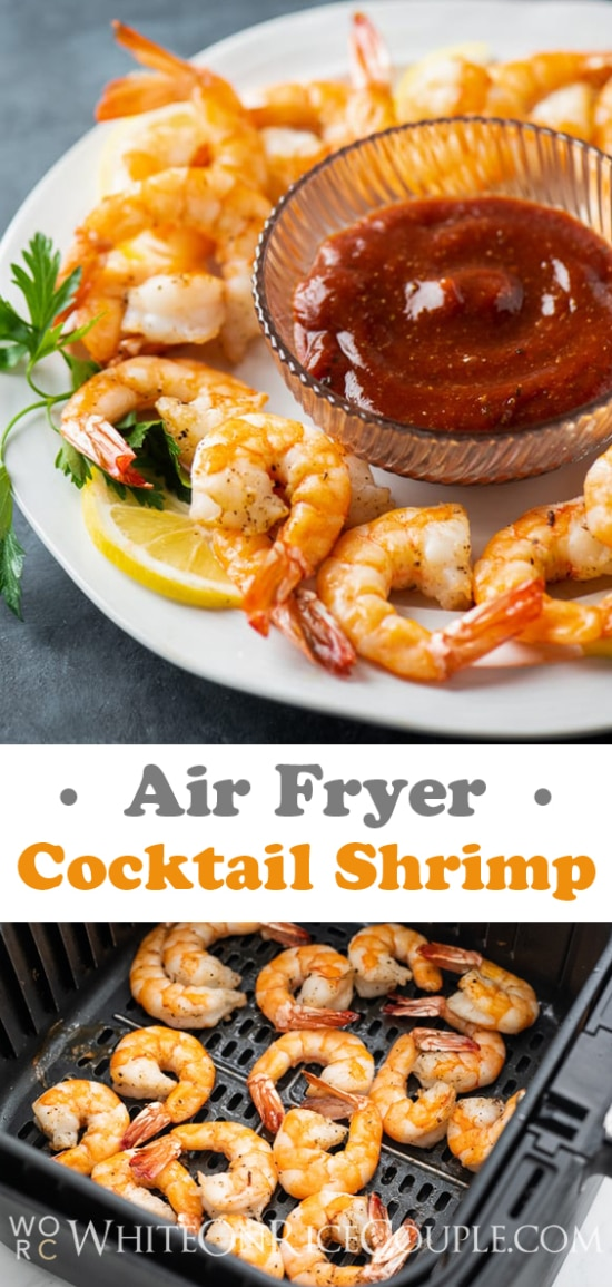 Air Fryer Shrimp Cocktail Recipe | WhiteOnRiceCouple.com