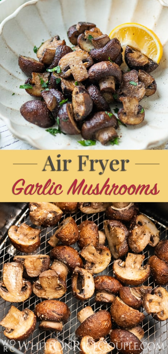Easy Recipe for crisp mushrooms that's healthy @whiteonrice