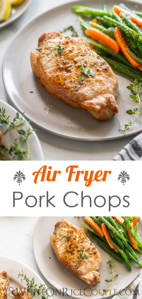 Air Fryer Pork Chops Recipe in Air Fryer @WhiteOnRice