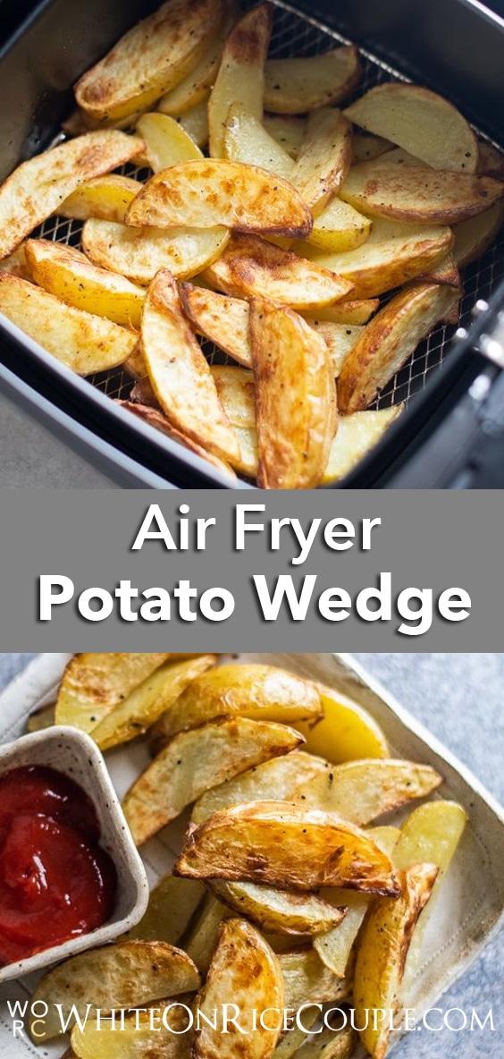 Air Fryer French Fries Potato Wedges | WhiteOnRiceCouple.com