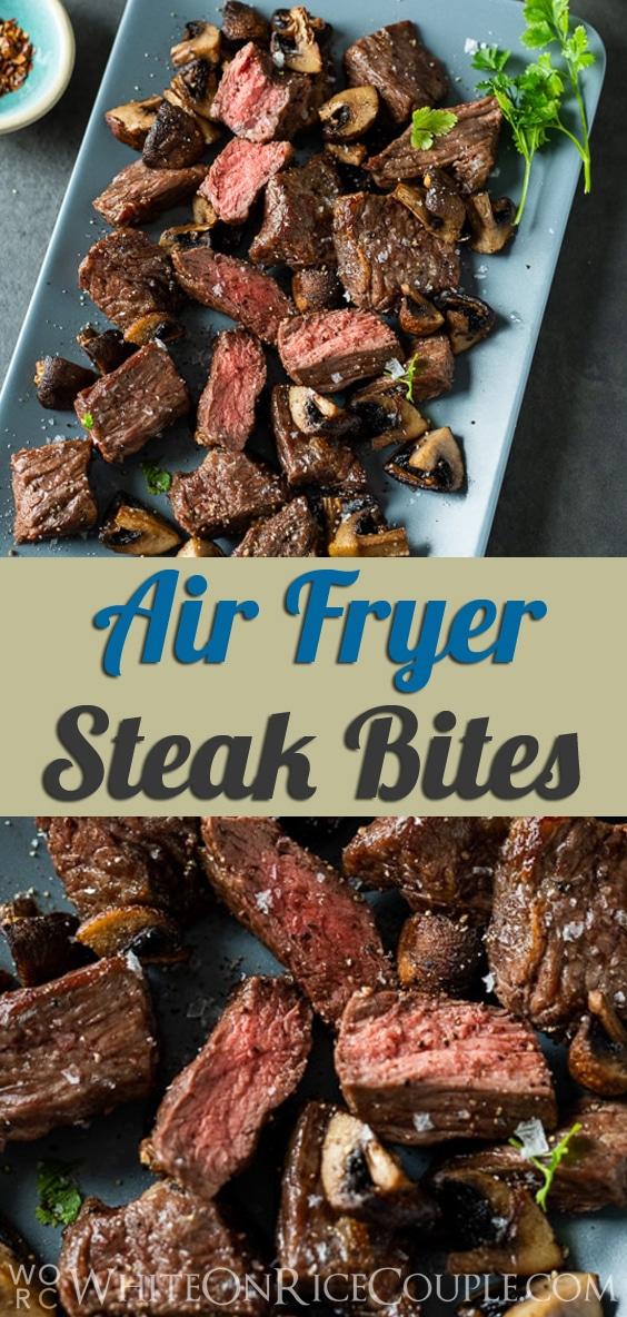 Air Fried Steak Bites in Air Fryer from @whiteonrice