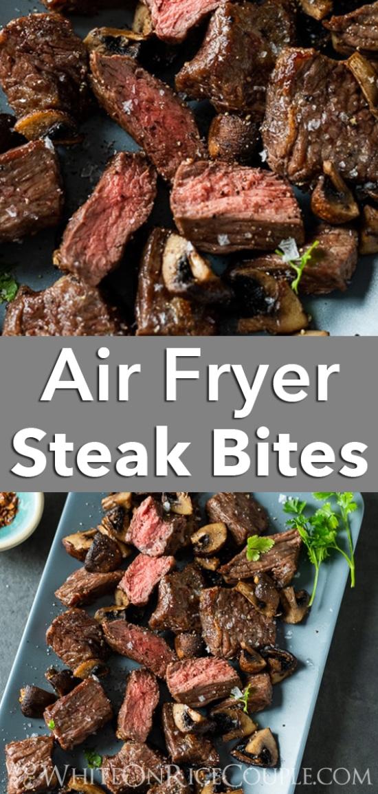 Steak tips recipe for air fryer @whiteonrice