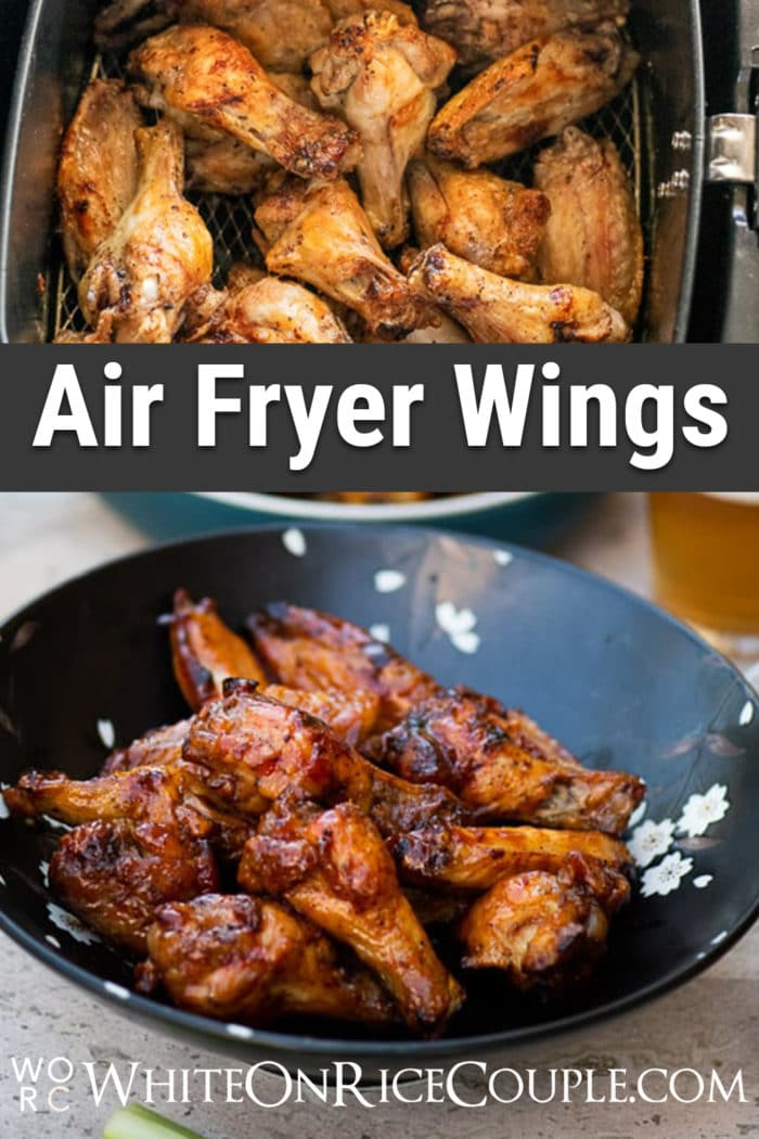 Healthy Air Fried Chicken Wings Recipe in Air Fryer NO OIL | @whiteonrice