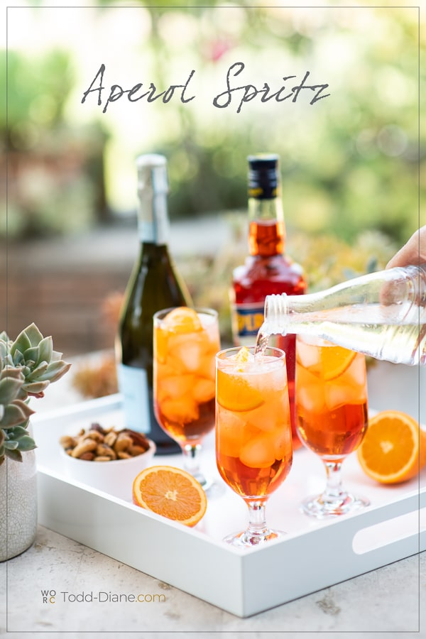 Aperol Spritz Recipe Cocktail pouring into glass