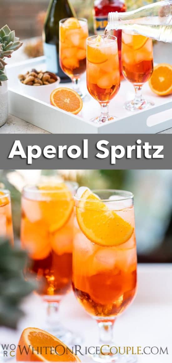 Aperol Spritz Recipe Cocktail   WhiteOnRiceCouple.com