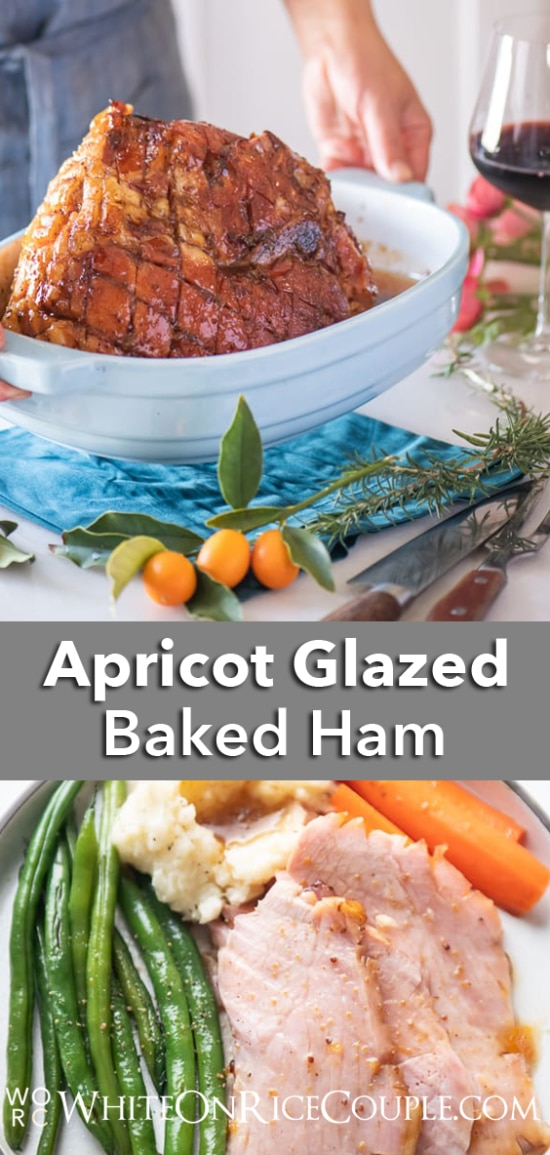Easy Baked Ham Recipe with Apricot Glaze | WhiteOnRiceCouple.com