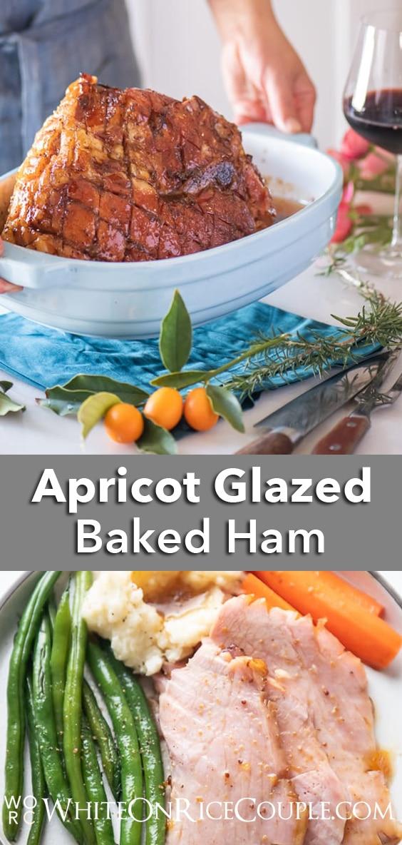 Easy Baked Ham Recipe with Apricot Glaze | WhiteOnRiceCouple.com