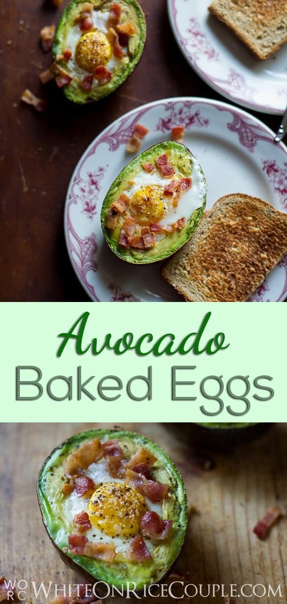 Baked Eggs in Avocado Recipe Paleo Keto @whiteonrice