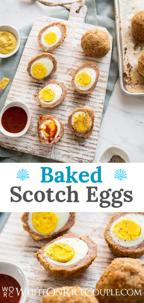 Baked Scotch Eggs Recipe that's Low Carb Keto | WhiteOnRiceCouple.com