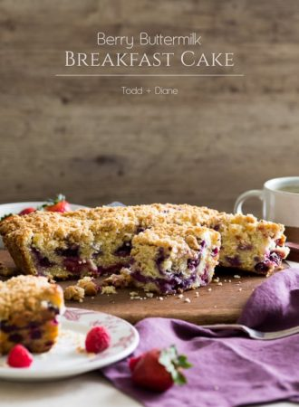 Berry Buttermilk Breakfast Brunch Cake that's moist, tender and delicious. | @whiteonrice