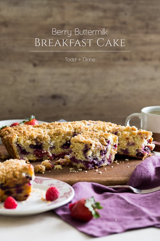 Berry Buttermilk Breakfast/Brunch Cake with Crumb Topping