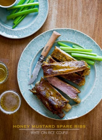 Best Honey Mustard Spare Ribs Recipe Baked in Oven @whiteonrice
