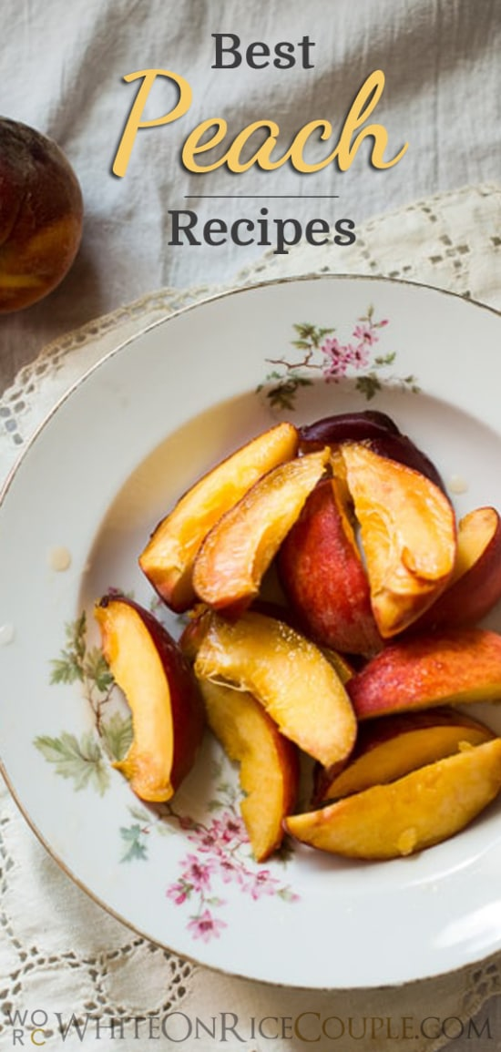 Best stone fruit recipes like deserts and drinks | @whiteonrice