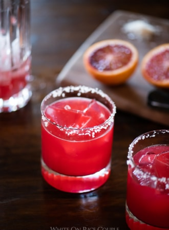 Blood Orange Margarita Cocktail Recipe | @whiteonrice