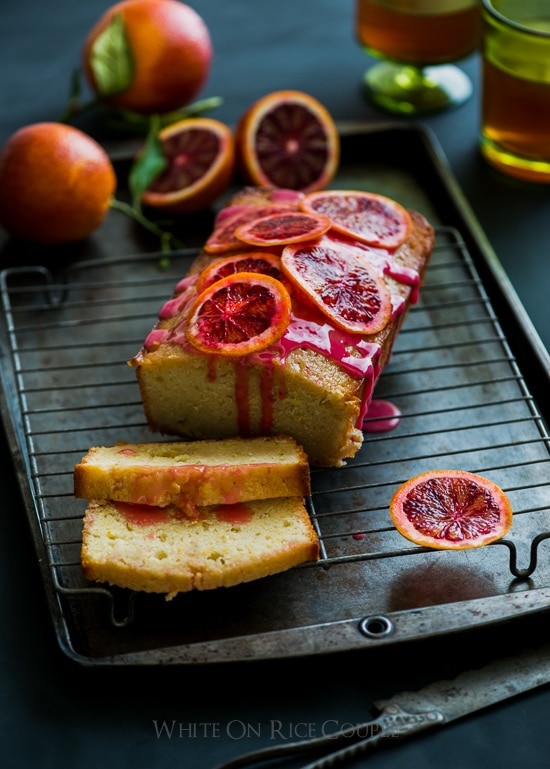 Blood Orange Buttermilk Pound Cake Recipe | @WhiteOnRice