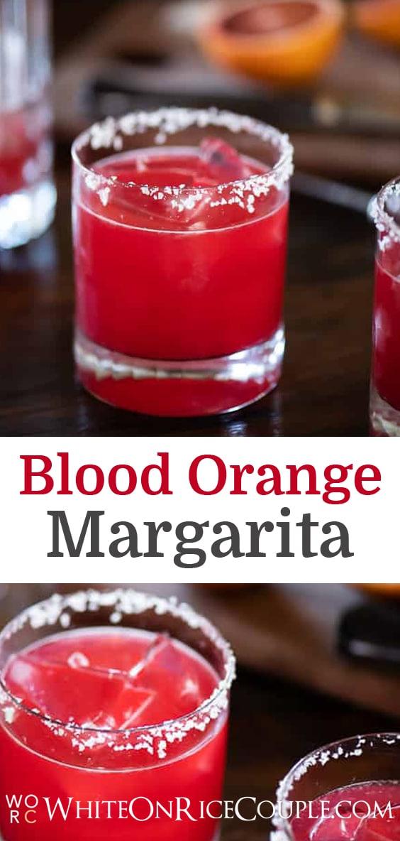 Blood Orange Margarita Cocktail Recipe | @whiteonrice