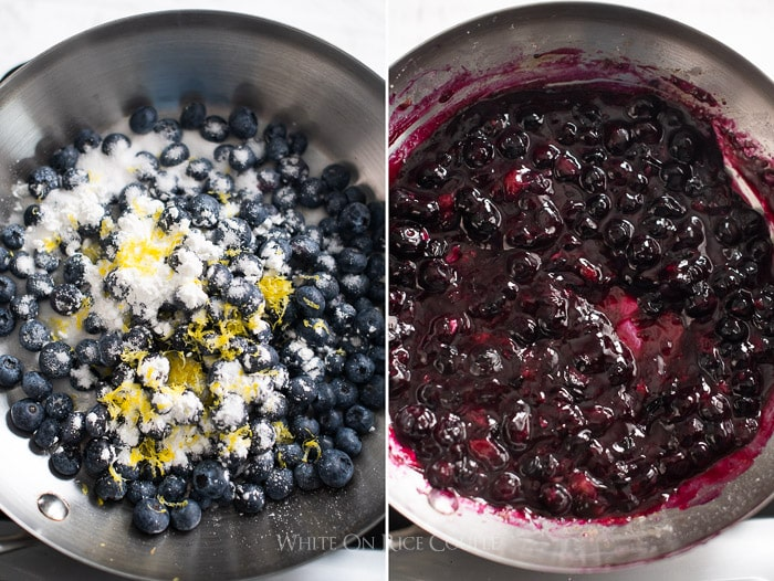 Fresh Blueberry cream cheese frosting recipe @whiteonrice