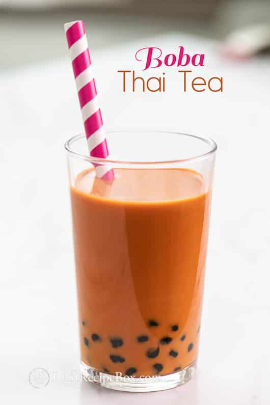 Boba Thai Tea Recipe or Thai Bubble Tea Recipe @bestrecipebox