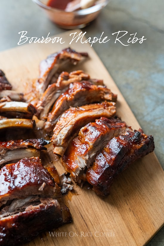 Juicy Bourbon Maple Ribs | @WhiteOnRice