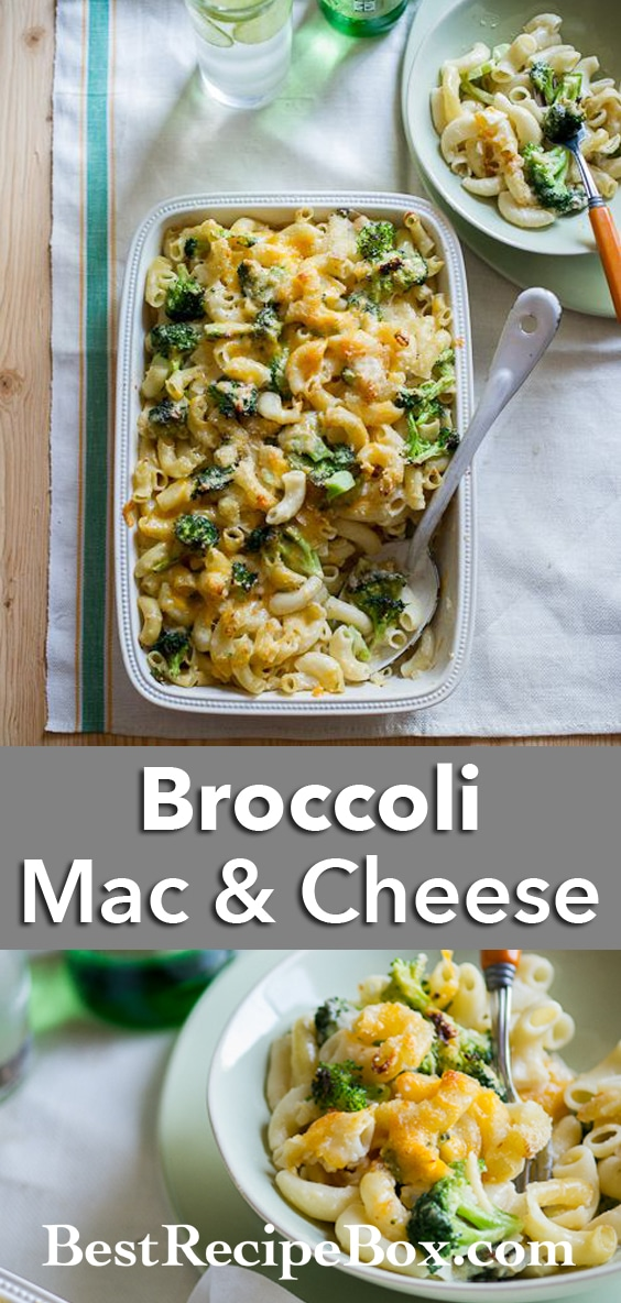 Broccoli Mac and Cheese Recipe for Healthy mac and cheese @whiteonrice