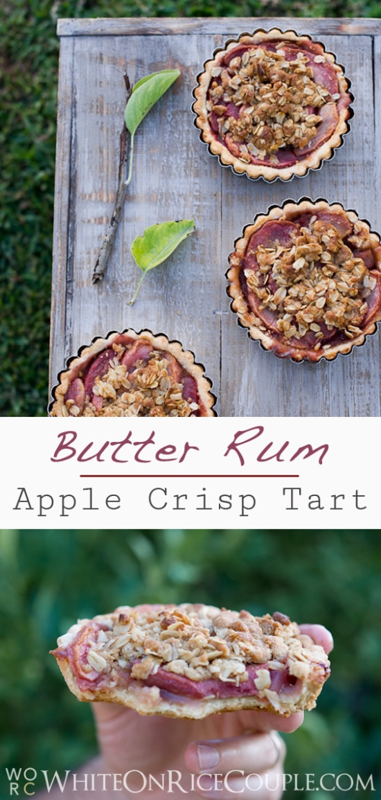 apple crisp tart | @whiteonrice
