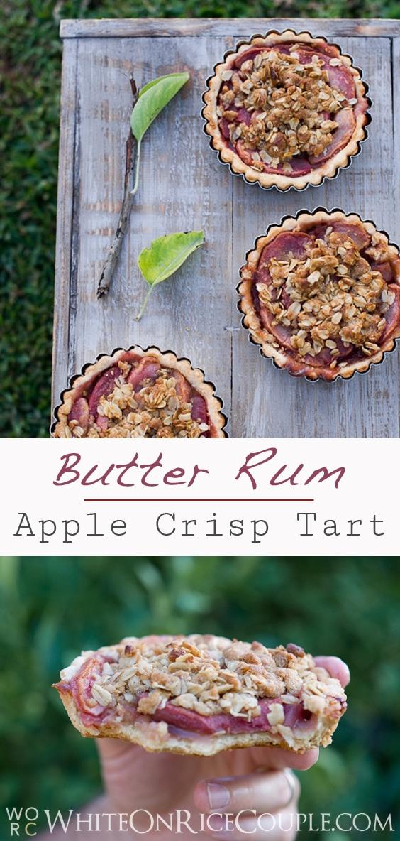 apple crisp tart | @whiteonrice