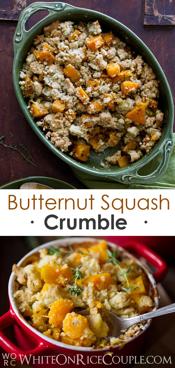 Delicious Butternut Squash Crumble Casserole Recipe on @whiteonrice